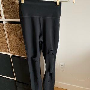 High-waisted ripper warrior leggings (brand new)